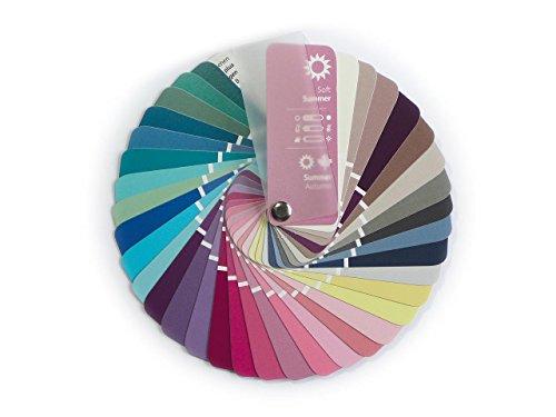 Farbpass Sommer-Herbst (Soft Summer) als kleiner Fächer mit 35 typgerechten Farben zur Farbanalyse, Farbberatung, Stilberatung