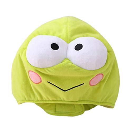 ABOOFAN Plush Frog Hat Faux Fur Animal Hat Cap Novedad Full Head Winter Ski Hat Fiesta Vestir Up Cosplay Photo Props Rana Disfraz para Cumpleaos Carnaval Fiesta Favores