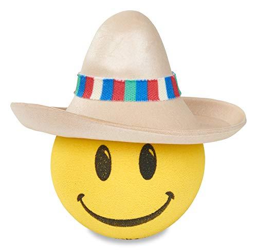CoolBalls Happy Amigo w Mexican Sombrero Hat Head Car Antenna Topper/Auto Mirror Dangler/Desktop Bobble Buddy