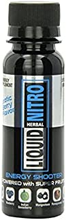 Liquid Nitro Energy Shooter Energy Supplement Shots Powered By Super Fruits , 3 Fl Oz Bottles, 12-Count (EXOTIC BERRY)