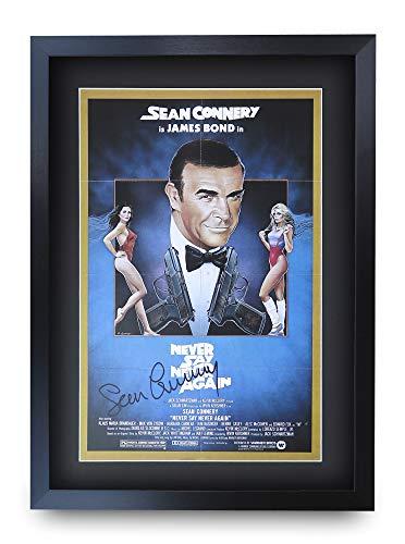 HWC Trading A3 FR James Bond - Never Say Never Again Movie Poster Sean Connery Signed Geschenk GESTALTET A3 Printed Autogramm Film Geschenke drucken Fotobildanzeige