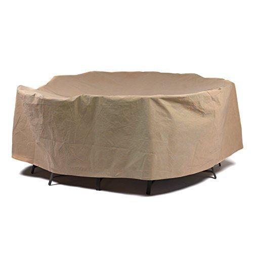 couvertures de canard Essential rond pour table avec chaises terrasse, 193 cm par couvertures de canard