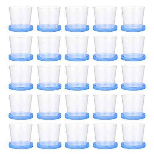 HEALLILY 50 Unidades de Vasos de Muestras Contenedor de Heces 40Ml Recipientes de Muestras Taza de Prueba de Plástico con Tapas para Accesorios de Prueba de Laboratorio