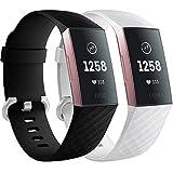 Faliogo 2 Paquetes Correa de Repuesto Compatible con Fitbit Charge 3 Correa/Fitbit Charge 4 Correa,...
