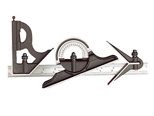 Starrett 435ME300-435me-300 fundido cuadrada de hierro, el centro y la cabeza transportador reversible con juego de combinación cuchilla regular, acabado rugoso negro, tamaño 300 mm