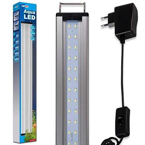 happet AquaLED Aquarium LED Beleuchtung, Aquariumleuchte für Ihre Zierfischaquarien ALS Aquariumlampen und Aufsetzleuchte im Süßwasser ALS Tageslicht und Pflanzenlicht einsetzbar (LB24, 57-67 cm)