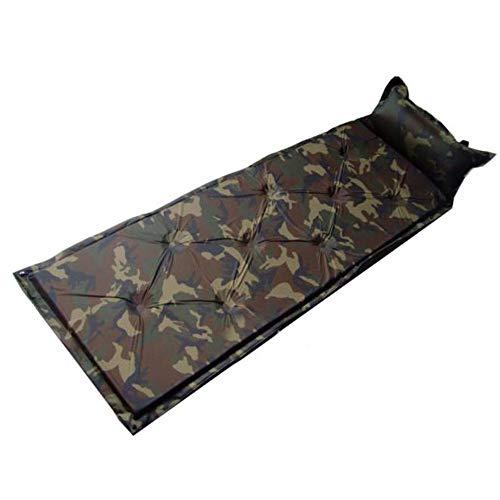 Camping-Tools. Selbstaufblasende kompakte Schaum-Schlafsack-Matte, die mit dem angebrachten Kissen wasserdichtes leichtes aufblasbares Luft-Zellen-Matratzen-einzelnes kampierendes Pad spleißt