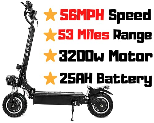 OUTSTORM Folding Electric Scooter for Adults, 56MPH Top Speed, 53 Mile...