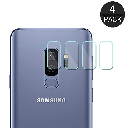 (4 Pack) AKWOX Compatible S9 Plus Camera Lens Protector, Ultra Thin 0.2mm 9H Hard Tempered Glass Camera Lens Protector for Samsung Galaxy S9 Plus, Anti-Scratch,Dustproof,High Transmittance