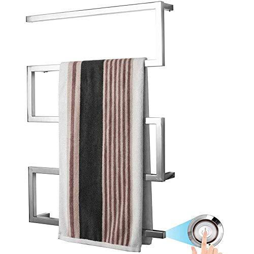JNMDLAKO Calentador de Toallas con calefacción, toallero eléctrico de Acero Inoxidable con...