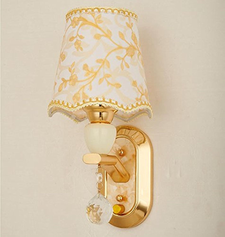 Wlxsx Moderne Minimalistische Führte Nachttischlampenschlafzimmer Kreativer Wohnzimmerkorridor Europische Artwandlampe Einzelner Kopf