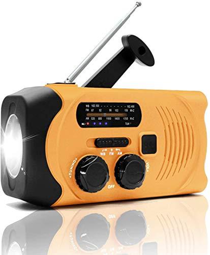 防災ラジオ 手回し充電ラジオ USB充電 大容量多機能 災害対応 防災グッズ SOSアラート スマホ充電 ソーラー充電 2000mAH 携帯ラジオ