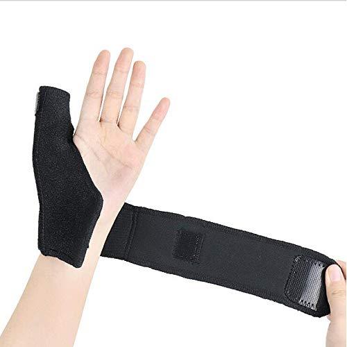 BigMe親指サポーター指用 サポーター 腱鞘炎 バネ指 突き指 手首固定 関節症 捻挫 親指付け根の骨折 固定用金属プレート 調節可能 フリーサイズ 1枚入り (right)