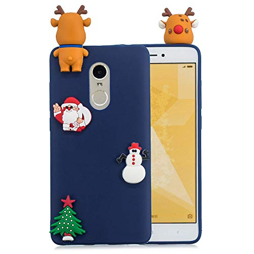 LAXIN Christmas Tree Case for Xiaomi Redmi Note 4x Global,Cartoon Cover,Kids Soft Cool Silicone Gel Rubber Kawaii Character Fashion Unique Fun Shockproof Protector Shell for Xiaomi Redmi Note