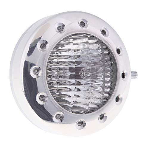 Sharplace Phare De Moto 12v H4 Ambre Clair Accessoires De Moteur - Chrome Clear Lens