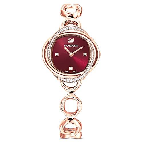 Swarovski Crystal flower watch in rose gold tone steel 5552783