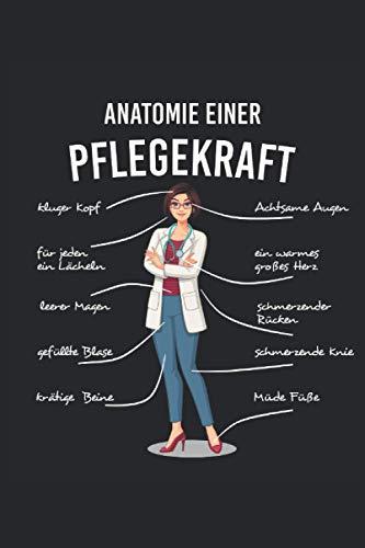 Anatomie einer Pflegekraft NOTIZBUCH JOURNAL: 120 Seiten Notizbuch | liniert | creme weißes Papier | Tagebuch | Geschenk für Pflegekräfte