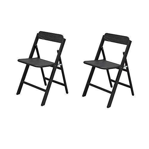 Folding Chairs Respaldo Silla Plegable Balcón Silla de salón Silla de Oficina portátil Silla de computadora para Estudiantes Silla de Dormitorio Taburete Simple para el hogar Dos sillas