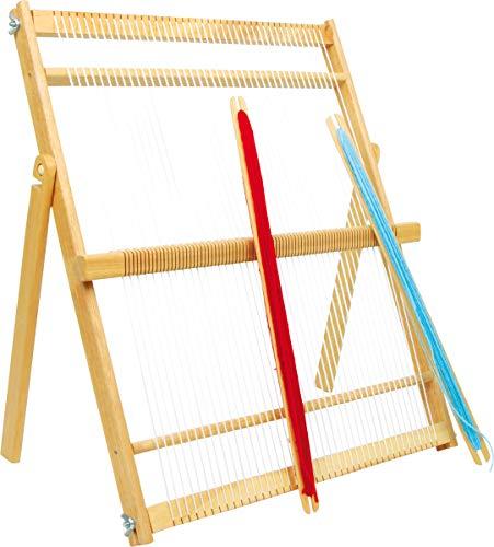 """small foot 2670 Webrahmen """"Maxi"""" aus hochwertigem Holz, für fortgeschrittene Handarbeits-Künstler"""