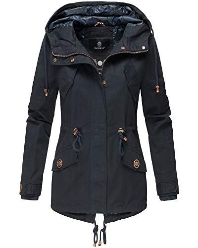 Marikoo Damen Jacke Kurz Mantel Frühling Herbst 2019 Sommerjacke MNL-Sun (X-Small, Navy)