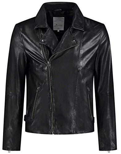 Goosecraft GC Berliner biker BLACK Leather Jacket, XS Uomo