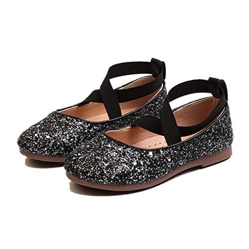 Zapatos de Princesa para niños cómodos Transpirables con Purpurina Lentejuelas Zapatos Casuales...