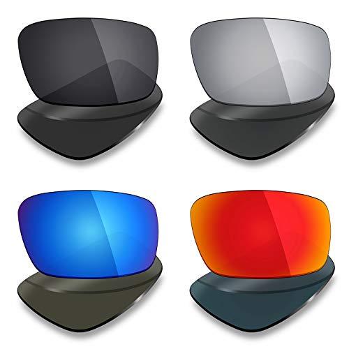 Mryok 4 pares de lentes polarizadas de repuesto para gafas d