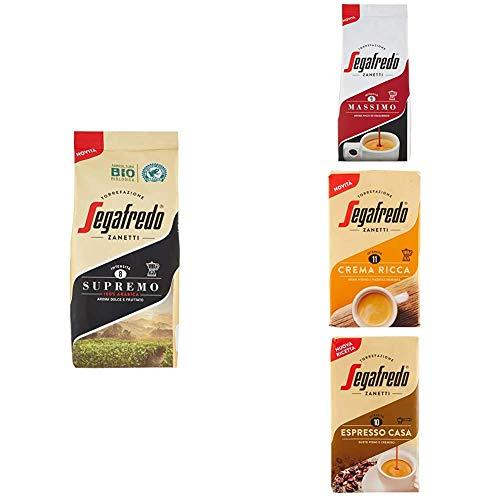 Segafredo - Caffè Macinato, Linea Le Classiche, Massimo, Supremo, Crema Ricca ed Espresso Casa, Aroma Intenso - 850g