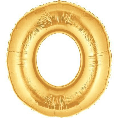 Gold Number 0 Foil Balloon - 36 Inch by Factory Card and Party Outlet