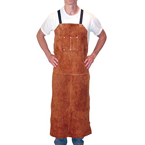 Tillman 3848 24 W x 48 L Leather Bib Apron by Tillman