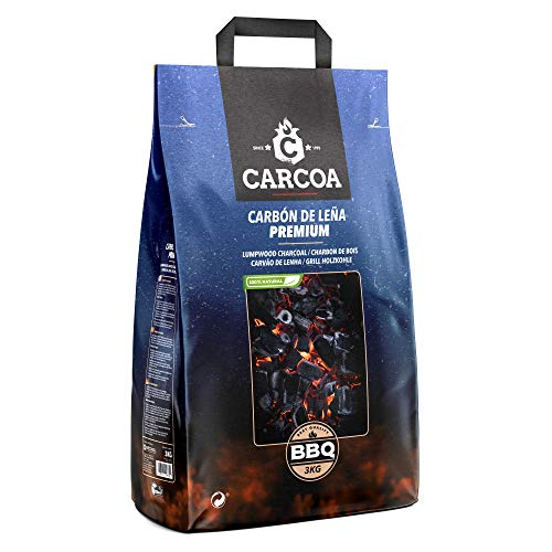 Carcoa 0124 Carbon Vegetal 3 KG, Negro Azul, 48x23x13 cm