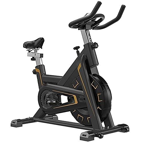 SKYWPOJU Bicicleta estática para Ciclismo Indoor Bicicleta Cardio Spinning con Manillar y sillín Ajustables, Pedales con cesto para pies - Peso de Apoyo 150 kg (Color : Red)
