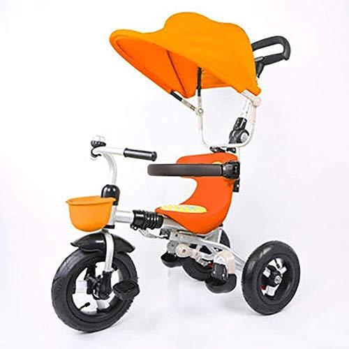 Lyl adecuado para niños de 1 a 3 años de edad, plegable triciclo de equilibrio de bicicleta, carro ligero para niño niña (color naranja)