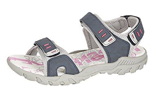 Sandales de sport PDQ adventure randonnée marche avec velcro, rose et gris, tailles 37, 38, 39.5, 40.5, 42 - - bleu marine/gris,