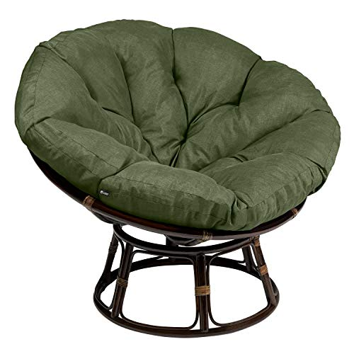 Classic Accessories Montlake Water-Resistant 50 Inch Papasan Cushion, Heather Fern