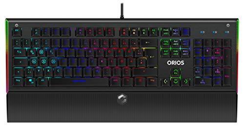 Speedlink Orios RGB Opto-Mechanical Gaming Keyboard - Opto-Mechanische Gaming Tastatur mit RGB-Beleuchtung, 9 Beleuchtungs-Modi, Red Switches, Anti-Ghosting, schwarz