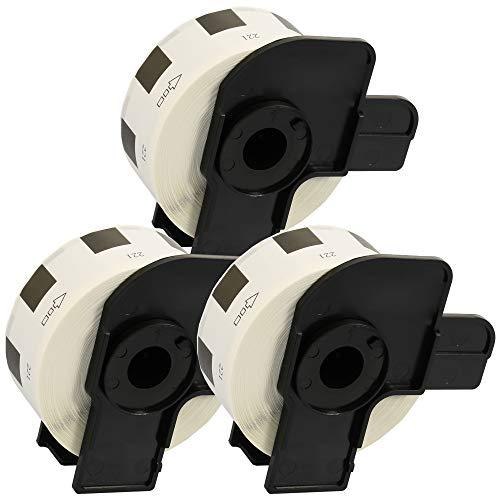 3 x DK11221 23mm x 23mm Etiquetas cuadradas (1000 Etiquetas por Rollo) Compatible con Brother P-Touch QL-500 QL-500 QL-550 QL-560 QL-570 QL-700 QL-800 QL-810W QL-1050 QL-1060N QL-1100 QL-1110NWB
