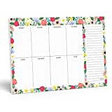Notepad. Floral Weekly Planner Notepad with Daily Planner Agenda Squares. 7x10' Day Planner 2020-2021 - Student Planner, Work Planner and Checklist Pad