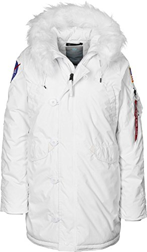 ALPHA INDUSTRIES Damen Winterjacke N3-B VF 59 BN NASA, Farbe:White, Größe:S