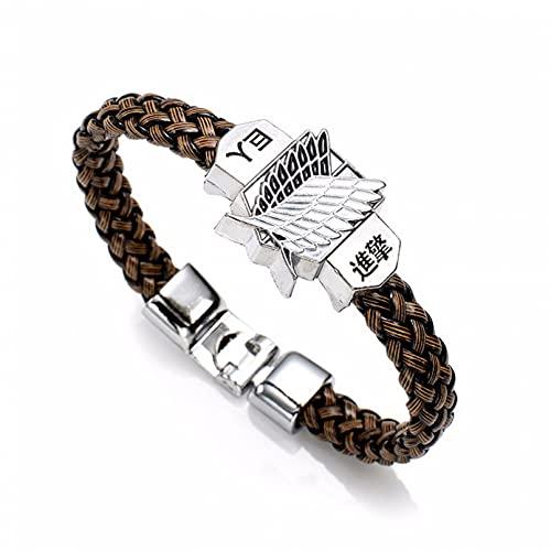 jiuyin Jewelry Mode Anime Attack On Titan Charm Armband Shingeki No Kyojin Cosplay Unisex Lederarmbänder Armband Armreifen Armband