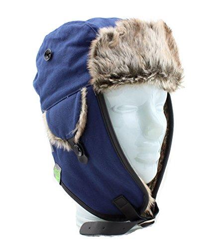 Gio Goi Hat Trapper Hat Russenmütze Fliegermütze blau (indigo)