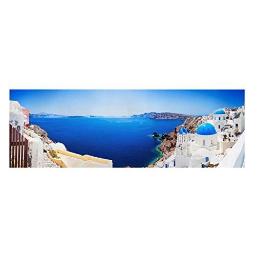 Bilderwelten Cuadro en Lienzo - View Over Santorini - Panorama Apaisado, Cuadros Cuadro Lienzo Cuadro sobre Lienzo Cuadro Moderno Cuadro Decoracion Cuadros Decorativos Cuadro XXL, Tamaño: 50 x 150cm