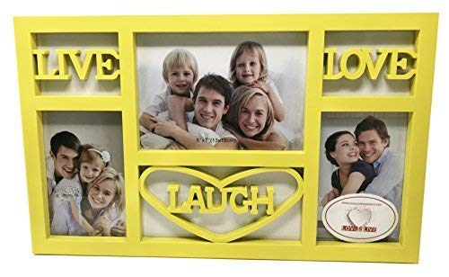 Live Laugh Love Wall Decor Picture Frame (Yellow)