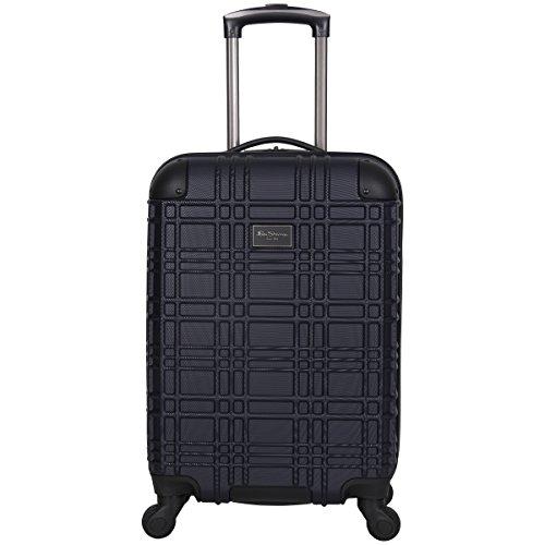Ben Sherman Nottingham Lightweight Hardside 4-Wheel Spinner Travel Luggage, Navy, 20-inch Carry On
