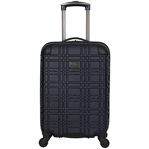 Ben Sherman Nottingham Lightweight Hardside 4-Wheel Spinner Travel Luggage, Navy, 20-inch Carry On
