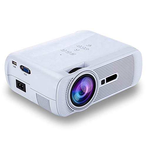 Projector, support video projector 2200L 20,000 hours home projector, indoor/outdoor with speakers, Fire TV Stick PS4 HDMI VGA AV, USB,White