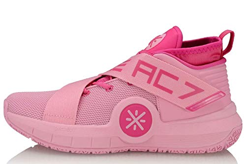 LI-NING All City 7 Wade Men Basketball Shoes Lining Professional Technology Sneakers Sports Shoes Pink ABAP105-2H US 10.5