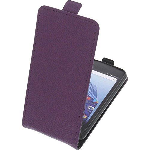 foto-kontor Tasche für Archos Access 45 4G Smartphone Flipstyle Schutz Hülle lila