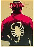 SANLIUJIU Canvas Poster Drive Ryan Gosling Movie Poster