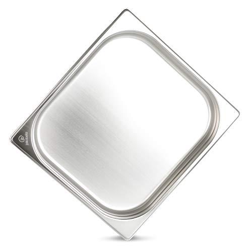 Greyfish - Recipiente de horno para Gaggenau/Miele/Siemens (sin orificios, acero inoxidable, apto para lavavajillas, 32,5 x 35,4 x 4 cm)